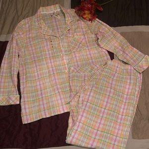 Victoria Secret Pink Plaid Pajama Set NWT sz Large